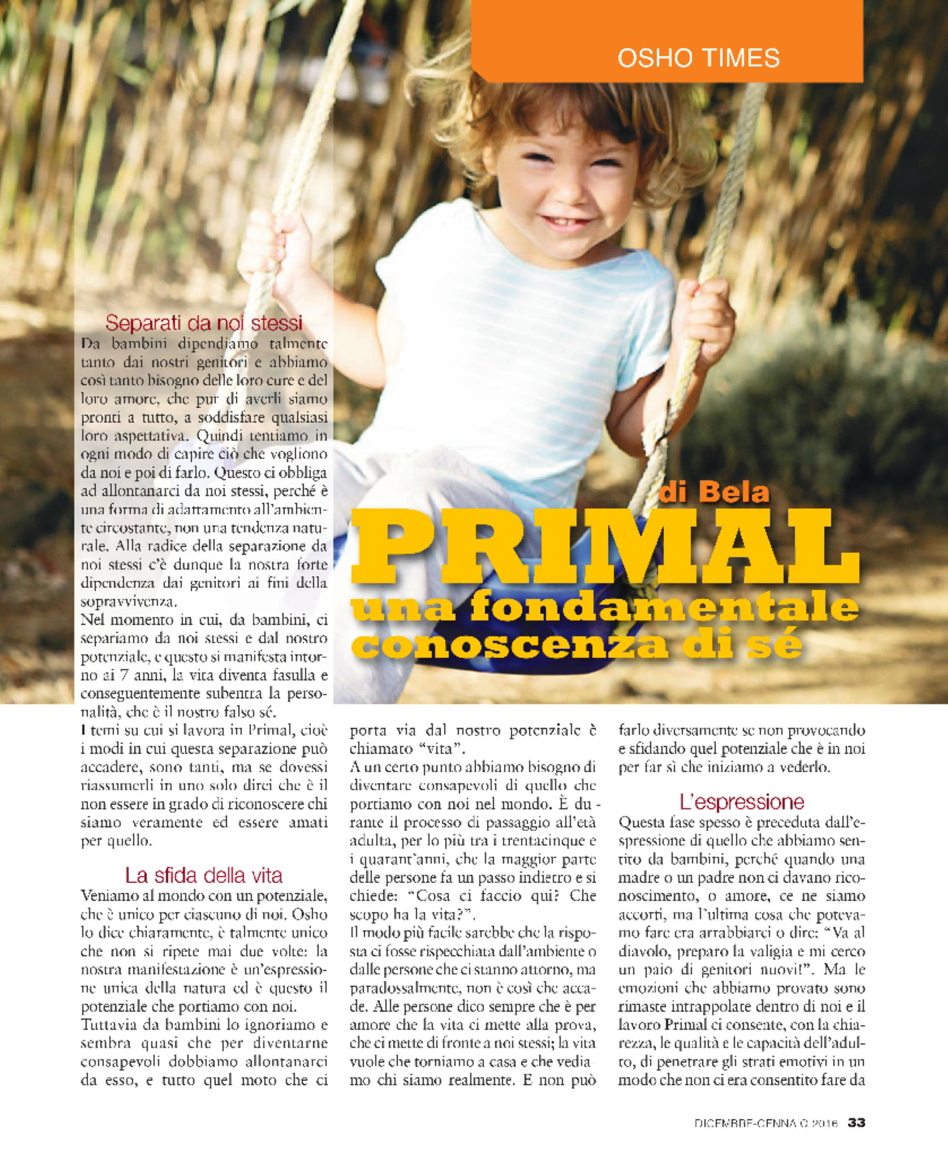 On Primal Therapy 1